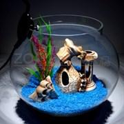 Аквариум Aqua круглый на 12 л. готовый комплект 2