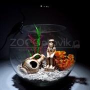 Аквариум Aqua круглый на 12 л. готовый комплект 3