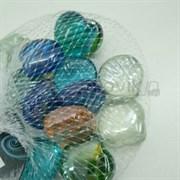 Glass 015 Марблсы в сетке МИКС ракушки 17-19мм 200гр