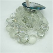 Glass 012 Марблсы в сетке МИКС капли 17-19мм 200гр