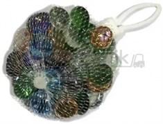 Glass 009 Марблсы в сетке МИКС капли 17-19 мм 200 гр