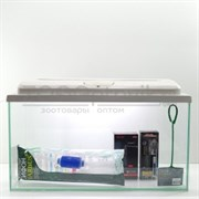 Аквариум AquaGold прямоугольник 75 л. (беленый дуб) готовый комплект с оборудованием