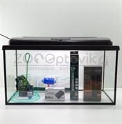 Аквариум AquaGold прямоугольник 75 л. (венге) Lum лампы готовый комплект с оборудованием