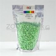 Гравий зеленый (KW) 400 гр., 4-7мм., неоновый, светящийся