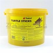 Turtle Sticks Универсальный корм для всех видов черепах в виде плавающих палочек, 11л.2,9 кг.(ведро)
