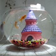 Аквариум Aqua круглый на 10 л. готовый комплект с золотыми рыбками