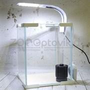 Аквариум Куб Aqua Phoenix 10 л. готовый комплект с оборудованием белый