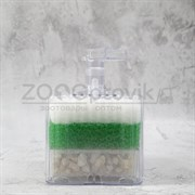 Аэрлифтный мультифильтр для аквариумов XY-2011 до 50 л. В комплекте губка и наполнитель (лава) 7,57,56,5 см