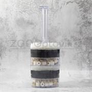 Аэрлифтный мультифильтр для аквариумов XY-2010 до 200 л. В комплекте губки и наполнитель (керамикагравий) 815 см