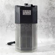 Фильтр внутренний угловой с поворотной дождевой флейтой и регулятором потока, 7W (650лч,акв. 80-140л) картридж губка
